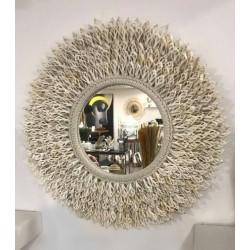 Miroir en coquillages